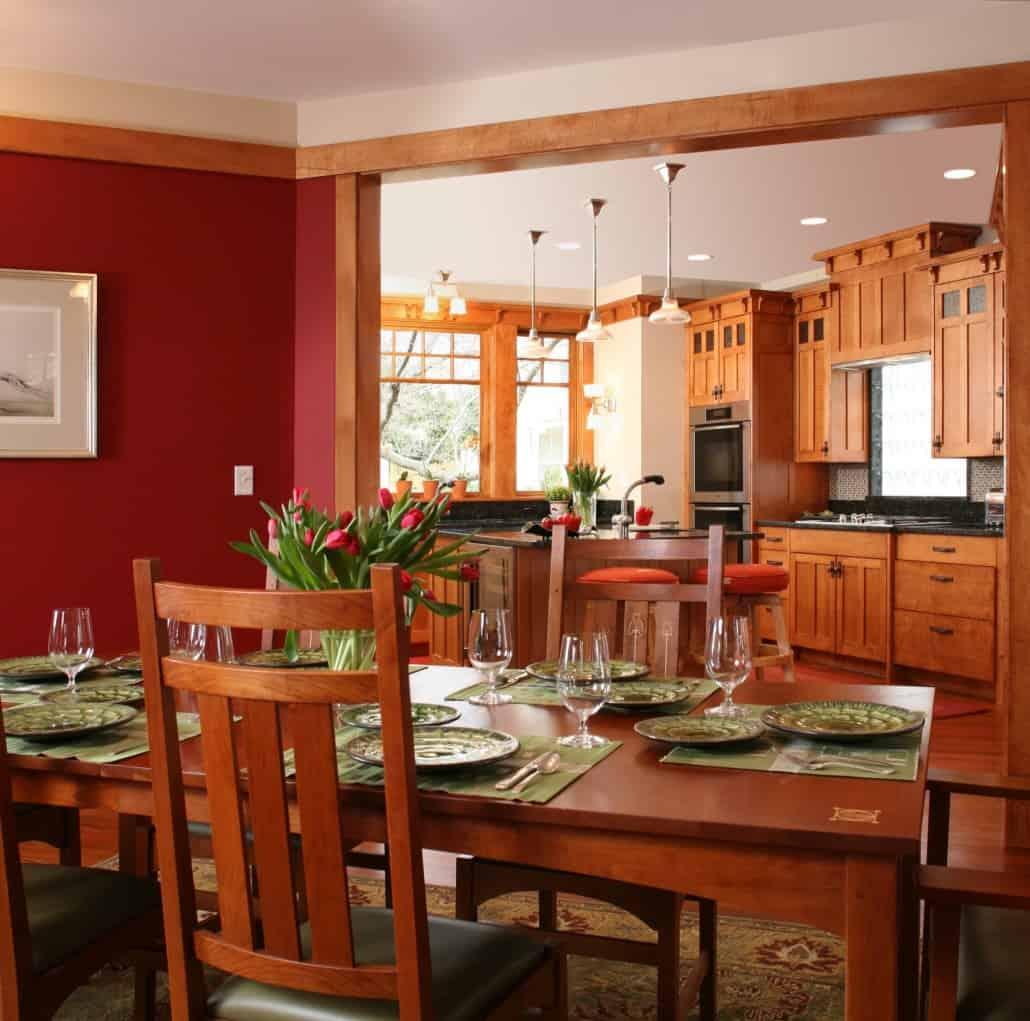 Corner Craftsman Dining & Kitchen