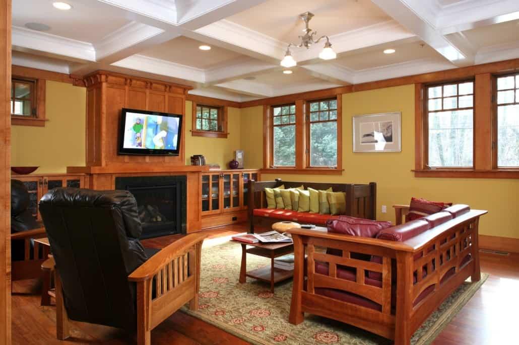 Corner Craftsman Family Room