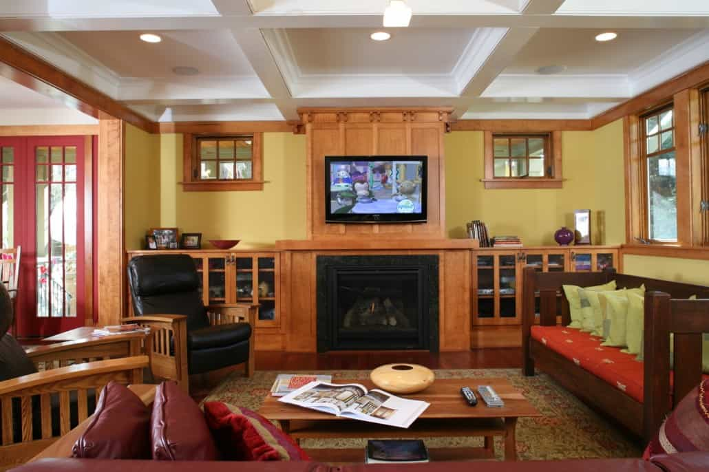 Corner Craftsman Family Room