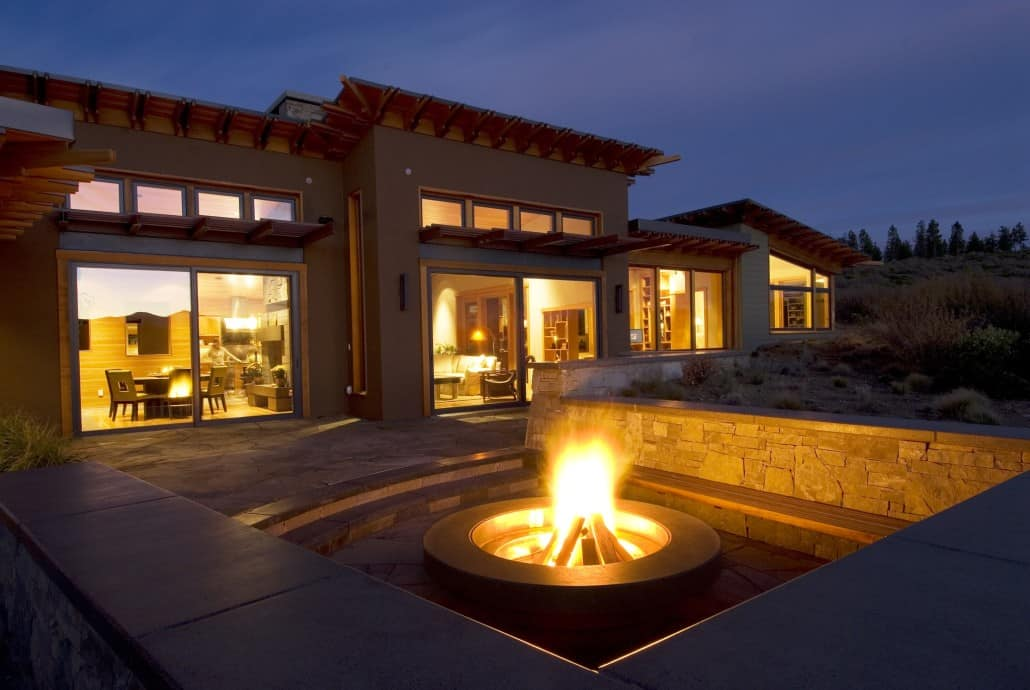 High Desert Pavilion Fire Pit