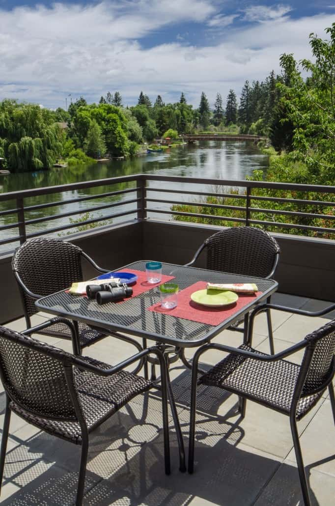 Modern Deschutes Waterfront Deck
