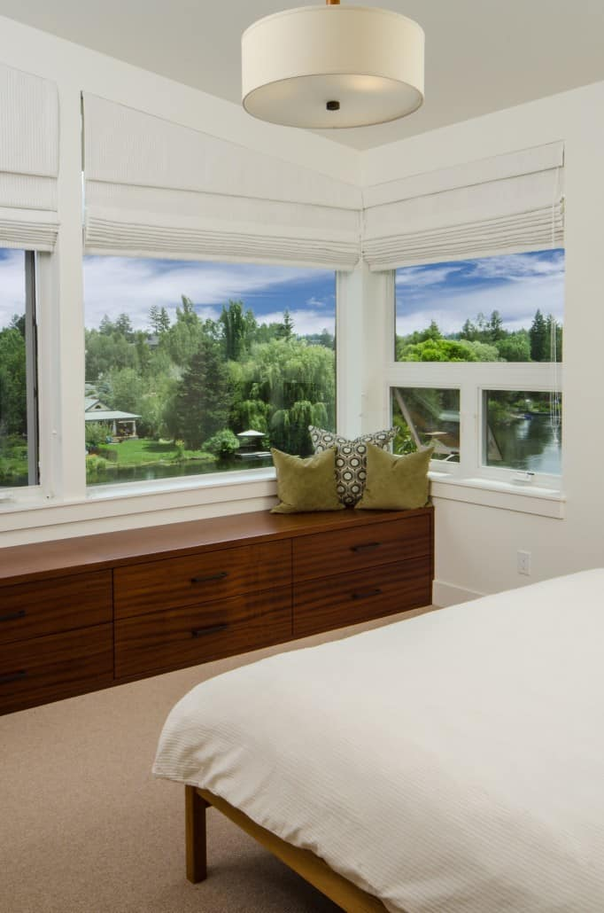 Modern Deschutes Waterfront Master Bedroom