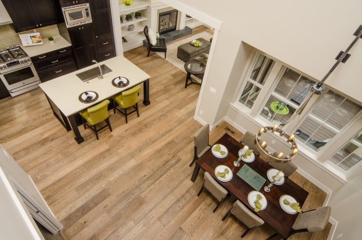 Transitional Infill Kitchen from Above