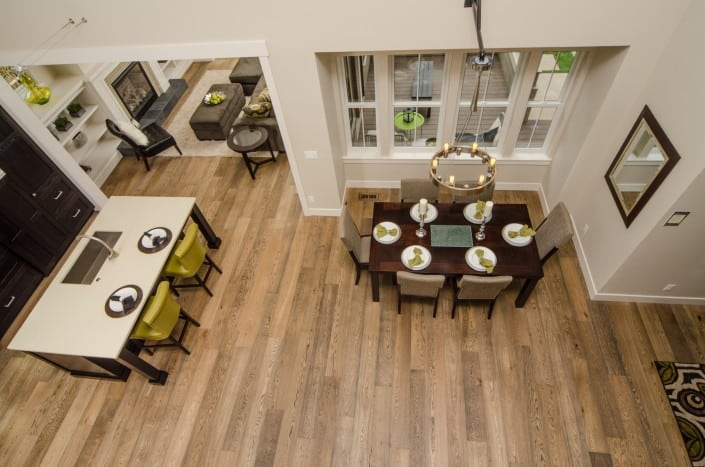 Transitional Infill Living Room from Above