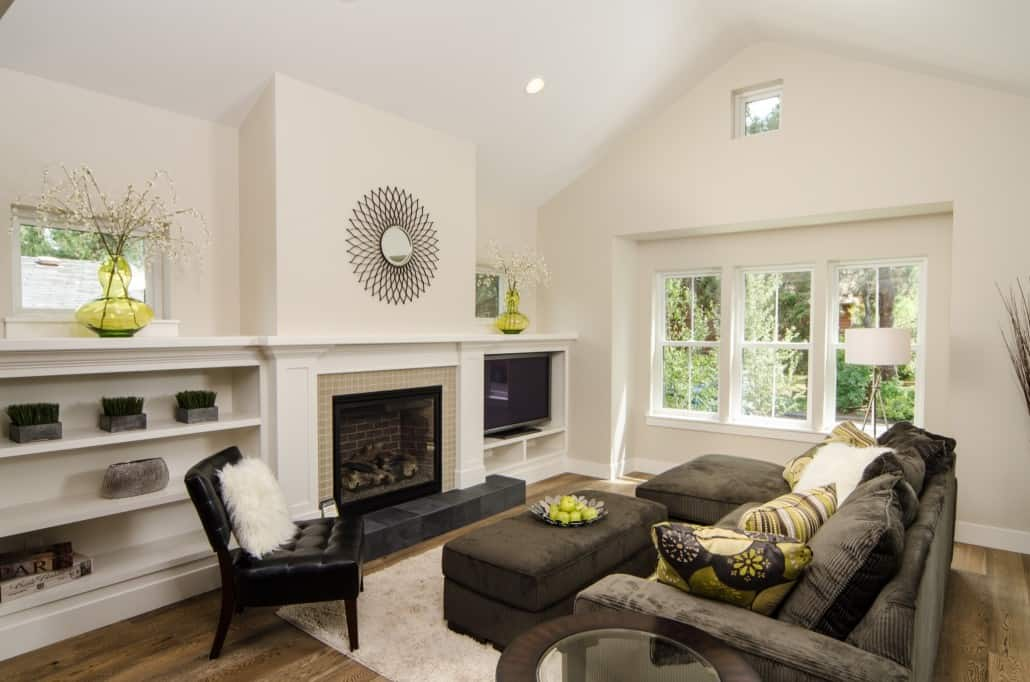Transitional Infill Living Room